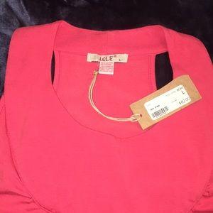 NWT Isle Tank Top Dress Sleeveless Berry Stretch